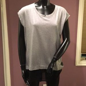 Two by Vince Camuto Grey Top with Black